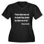 Churchill Alcohol Quote (Front) Women's Plus Size