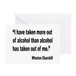 Churchill Alcohol Quote Greeting Cards (Pk of 10)