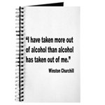 Churchill Alcohol Quote Journal