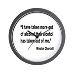 Churchill Alcohol Quote Wall Clock