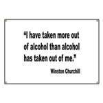 Churchill Alcohol Quote Banner