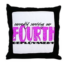 Unique 2nd deployment Throw Pillow