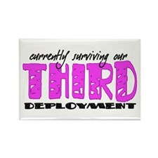 Cute Military deployment Rectangle Magnet (100 pack)