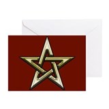 Classic Gold Pentacle Greeting Cards (Pk of 20)