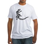 Tattoo Gecko Fitted T-Shirt
