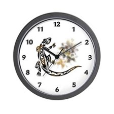 Tattoo Gecko Wall Clock