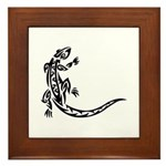 Tattoo Gecko Framed Tile