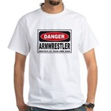 Armwrestler Danger Sign Shirt