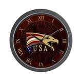 USA & Eagle Wall Clock