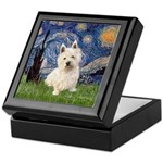Starry Night/Westie Keepsake Box