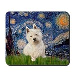 Starry Night/Westie Mousepad