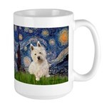 Starry Night/Westie Large Mug