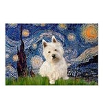 Starry Night/Westie Postcards (Package of 8)