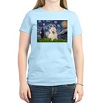 Starry Night/Westie Women's Light T-Shirt
