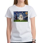 Starry Night/Westie Women's T-Shirt