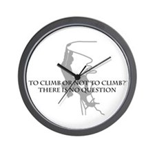 To Climb Or Not To Climb Wall Clock