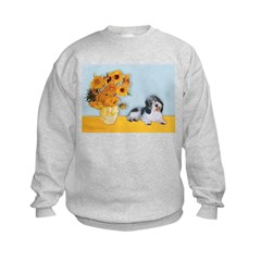 Sunflowers/PBGV Kids Sweatshirt