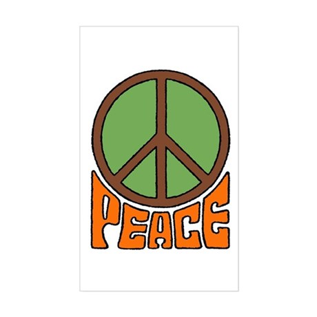 Peace Sign Rectangle Sticker