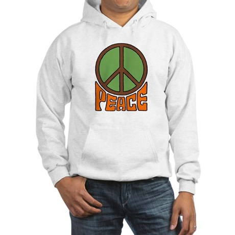 Peace Sign Hooded Sweatshirt