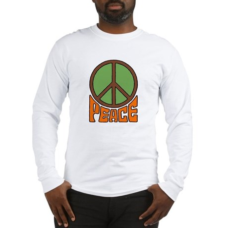 Peace Sign Men's Long Sleeve T-Shirt