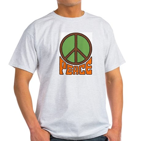 Peace Sign Ash Grey T-Shirt Men's Light T-Shirt
