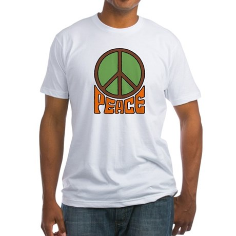 Peace Sign Men's Fitted T-Shirt