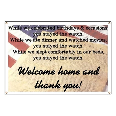 """Welcome Home"" Banner"