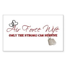 Only The Strong (Air Force) Rectangle Decal