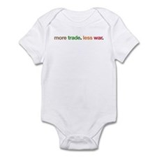More Trade, Less War Infant Bodysuit