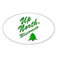 Up North Wisconsin Oval Decal