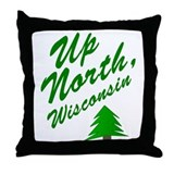 Up North Wisconsin Throw Pillow