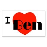 I Love Ben Rectangle Decal