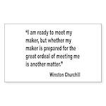 Churchill Maker Quote Rectangle Sticker