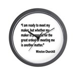 Churchill Maker Quote Wall Clock