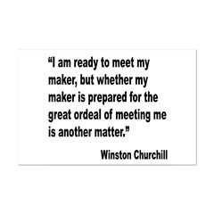 Churchill Maker Quote Posters