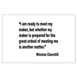 Churchill Maker Quote Large Poster