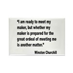 Churchill Maker Quote Rectangle Magnet (10 pack)