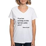 Churchill Knowledge Quote (Front) Women's V-Neck T