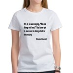 Churchill Necessary Success Quote (Front) Women's