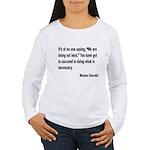 Churchill Necessary Success Quote (Front) Women's