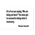 Churchill Necessary Success Quote Postcards (Packa