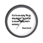 Churchill Necessary Success Quote Wall Clock