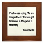 Churchill Necessary Success Quote Framed Tile