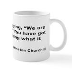 Churchill Necessary Success Quote Mug
