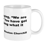 Churchill Necessary Success Quote Mug