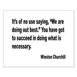 Churchill Necessary Success Quote Small Poster