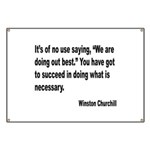Churchill Necessary Success Quote Banner