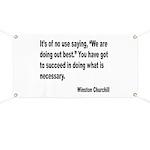 Churchill Necessary Success Quote Banner