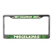My Children Porcelaine License Plate Frame