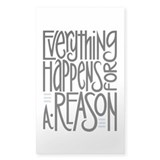 Everything Happens Rectangle Decal